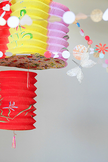 birthday lanterns & garlands