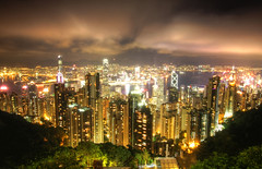 Hong Kong Nights (maciej.ka) Tags: city longexposure urban night asia cityscape skyscrapers harbour victoria hong kong nights kowloon hongkongnight victoriaharbour asiacity cityscapenight