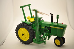 1966  John  Deere   2510  Gas  with Model  50  mid-mount  mower  narrow  front  ROPS  1/16th  diecast  metal  by  Ertl (ejwag777) Tags: metal john farming 1966 gas mower hay deere diecast haying rops ertl 116th 2510 narrowfront model50midm