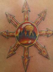 Chaos star tattoo (Southside Tattoo & Piercing) Tags: chris atlanta tattoo georgia star chaos piercing southside eastpoint posey