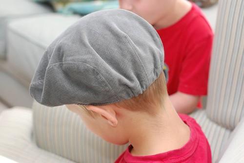 huck finn cap back view