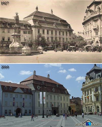 Sibiu - Piata Mare - 1927 - 2010