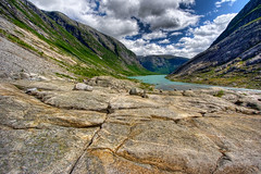 Valley (Mariusz Petelicki) Tags: norway norge glacier valley hdr dolina lodowiec 3xp nigardsbreen norwegia mariuszpetelicki dolinapolodowcowa postglacialvalley