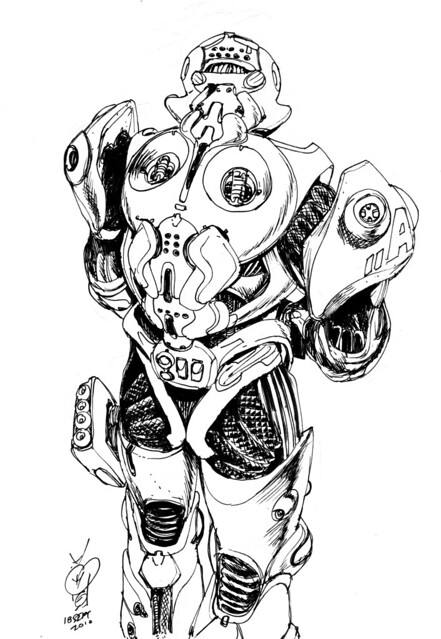 mech-suit1 sketch of the day