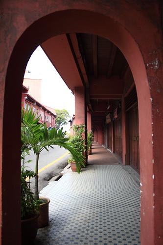 Corridor at the shop houses, Melaka Malaysia