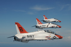 Air Wings Fly in Formation (US Navy) Tags: aviation military jets flight militar usnavy aviacin unitedstatesnavy goshawk airwing