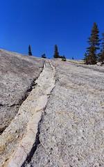 Fissure & Dike (rahtenkhamen) Tags: granite yosemitenationalpark dike tuolumnemeadows canona85 hugin glacialpolish potholedome glacialstriation