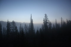 Sunrise at home - Foggy morning (Northwest haidaan) Tags: home fog sunrise cabin yukon 2010 yukonriver