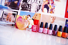 002. my room (brittanydaniellexo) Tags: pink perfume purple girly room polish nails jewlery decor interiordesign nailvarnish magazinewalls