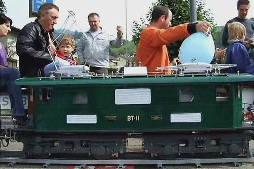 Ride a model train