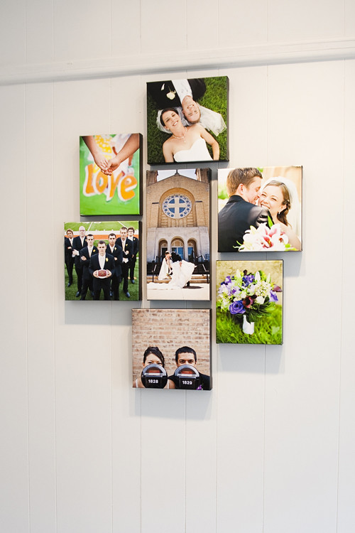 Wedding canvas cluster