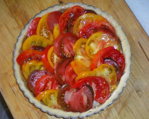 Tomato Tart Unbaked