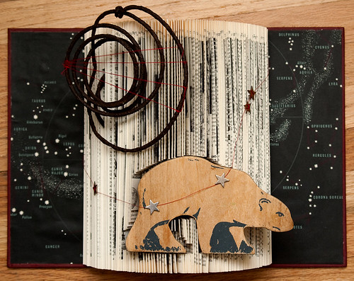 Altered Book: Constellation Of The Great Bear