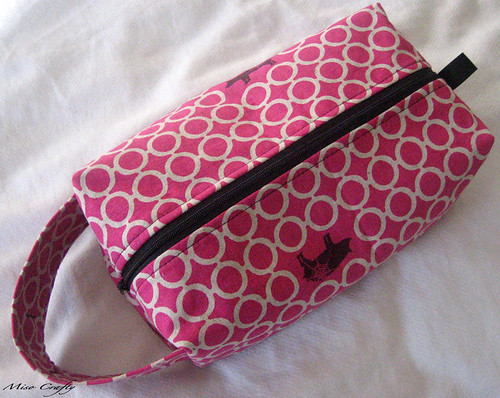 Pink Echino Pigs Project Bag