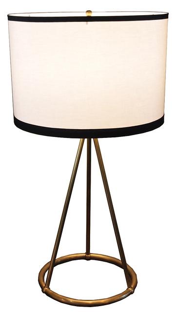 single brass lamp