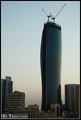 United Tower-- 22nd, September, 2010-2 (Thamerium) Tags: skyscraper kuwait modernarchitecture kuwaitcity arabiangulf sharq unitedtower