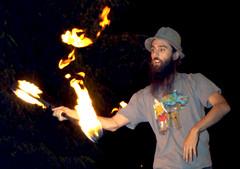 Dave Fire Hold (PulsarFirePhotography) Tags: fire circus performance firedance firearts fireart digitaladjustments