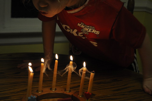 blowing out candles on birthday ring