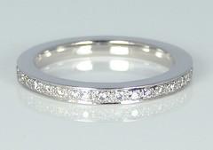 Diamond set full hoop eternity ring