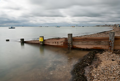 Warning - pollution (Andrew Areoff) Tags: longexposure sign warning pollution thorpebay