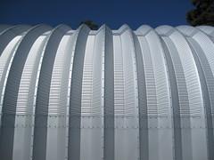 Side of steel building