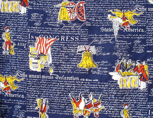 political fabric - Americana - Declaration of Independence