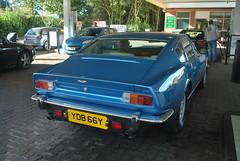 Aston Martin V8 1982 (Matt-Hill) Tags: blue station matt 1982 nikon martin hill petrol coupe v8 aston 2010 d60 leominster