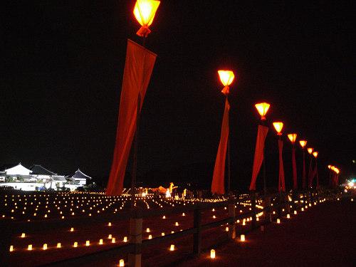 ロウソクの灯りが美しい『飛鳥光の回廊2010』@明日香村