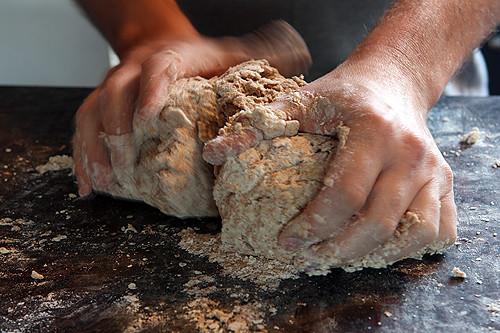 kneading soda bread