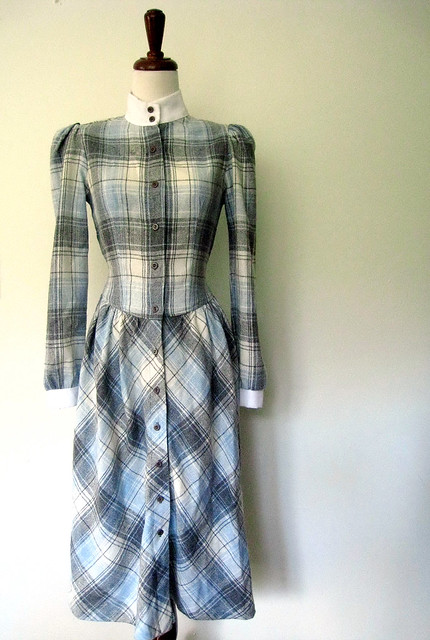 Vintage School Time Plaid Dress