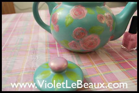 Painted Tea Pot Tutorial