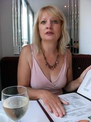 Judy at the Balti House (DncnH) Tags: nottingham pink summer menu wine 1968 judy indianrestaurant curryhouse latesummer bangladeshi hockley  baltihouse  heathcoatstreet