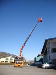 11 - 3-Achser Ladekran mit Arbeitskorb - 18 mt.