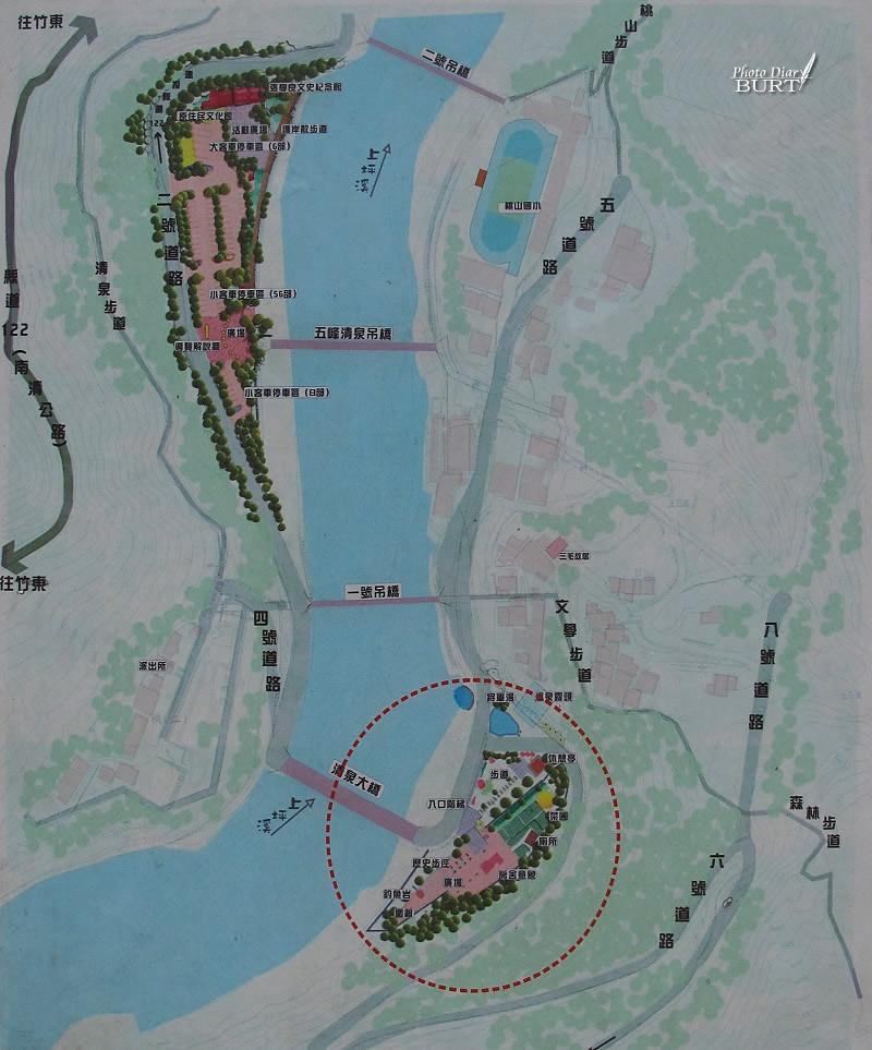 清泉溫泉地形略圖