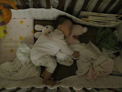 小白兔當枕頭