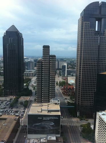 View from 31st floor of Sheraton Dallas
