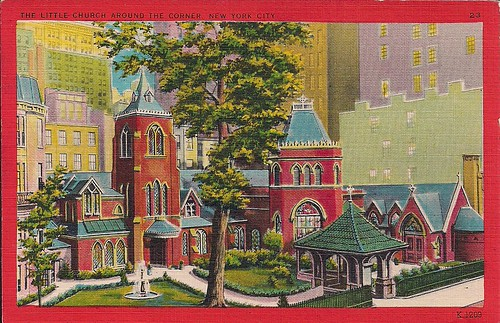 NYC Postcards - The Little Church Around The Corner