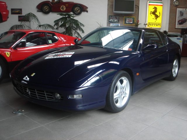 blue car ferrari 1999 m gt 456