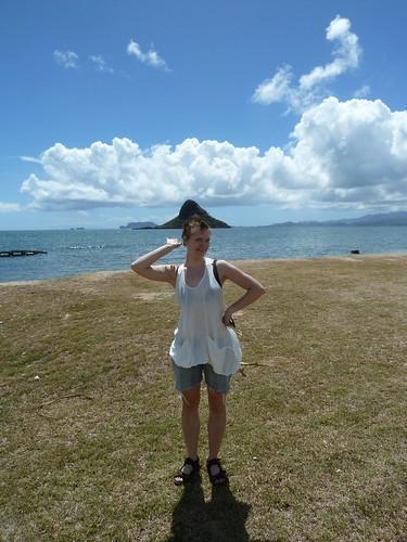 "Erica ""wearing"" Chinaman's Hat (Mokolii Island)"