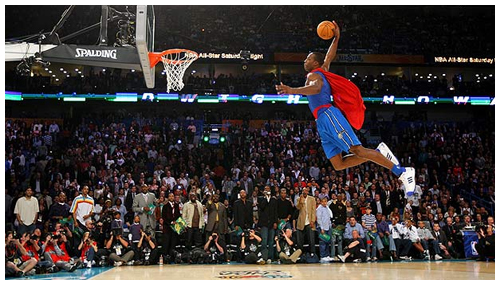 dwight howard superman dunk pictures. Dwight Howard - Superman Dunk