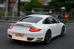 Porsche 911 Turbo 997 PDK (Ed Cunha Ph) Tags: auto white car branco canon rebel 911 automotive exotic turbo coche porsche carros bianco xsi 997 pdk