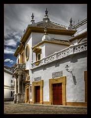 Plaza de toros, Seville (Descended from Ding the Devil) Tags: photoshop lumix spain seville andalucia panasonic bullring lightroom plazadetoros cs3 photomatix pseudohdr fz28