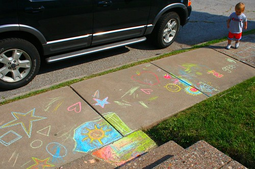 sidewalk drawings