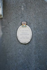 Photo of Thomas Chatterton white plaque