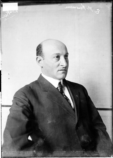 Edward Manuel Newman en 1909. DN-0006988, Chicago Daily News negatives collection, Chicago History Museum.