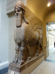 Lamassu from the North-West Palace of Ashurnasirpal II (883-859 BC) (Peter Radunzel) Tags: uk england sculpture london museum britishmuseum lamassu assyria topviewed ashurnasirpalii