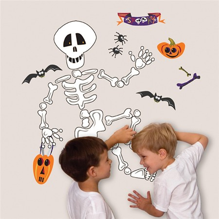 skeleton kids decal