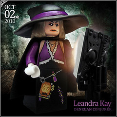 October 2 - Leandra Kay, Deneuan Conjurer (Morgan190) Tags: halloween scary october advent purple lego witch magic barbie creepy minifig custom 2010 spells m19 minifigure conjurer morgan19