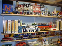 LEGO Area October 2, 2010 #10 (notenoughbricks) Tags: lego greengrocer legomocs citycorner cafecorner legocollection legodisplay legodesk legoworkspace legovideogamemosaics legoinstructionbooklets legocollectibleminifiguresdisplay