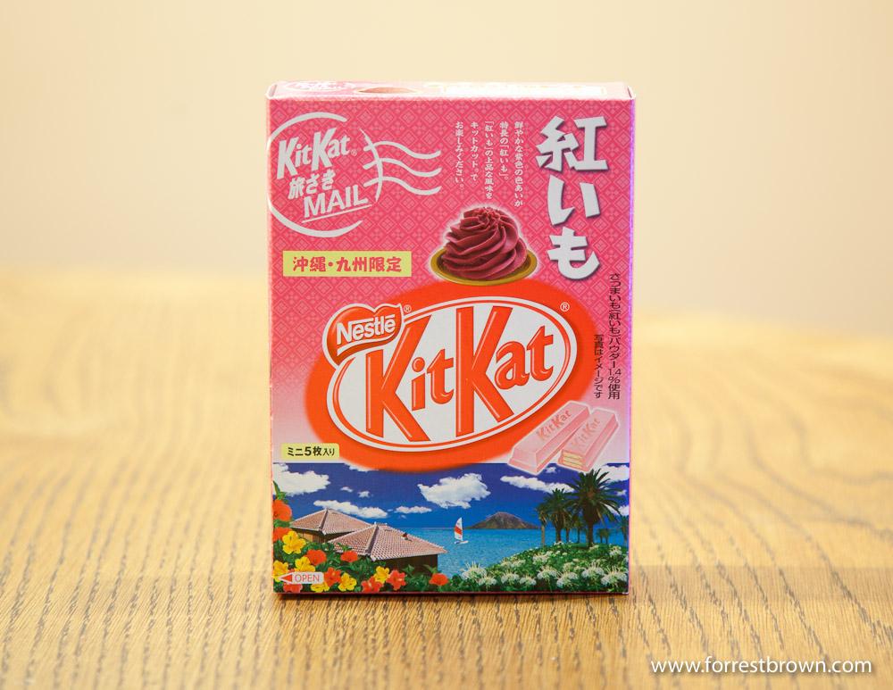 Purple Okinawan Sweet Potato Flavored Kit Kat. Kit Kat, Candy Bar, Japan, Tokyo